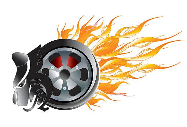 burning rubber illustrations royalty  vector graphics clip art istock