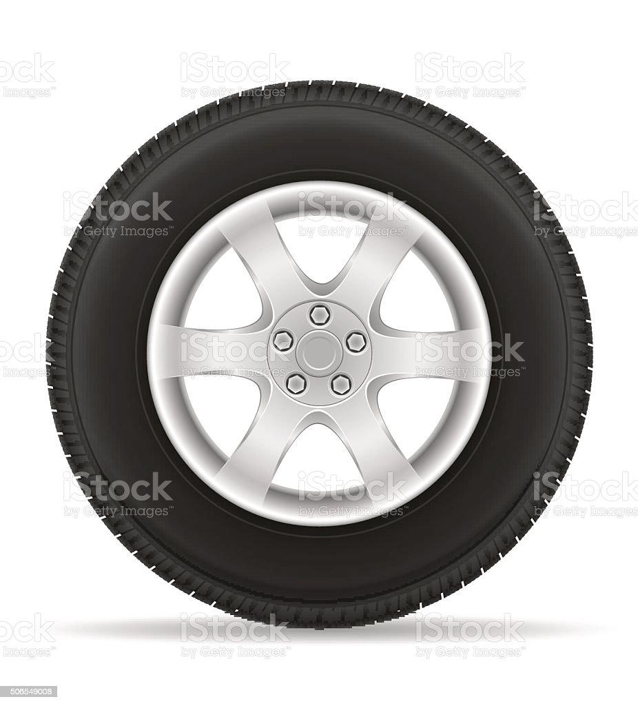 car wheel tire from the disk vector illustration vector art illustration