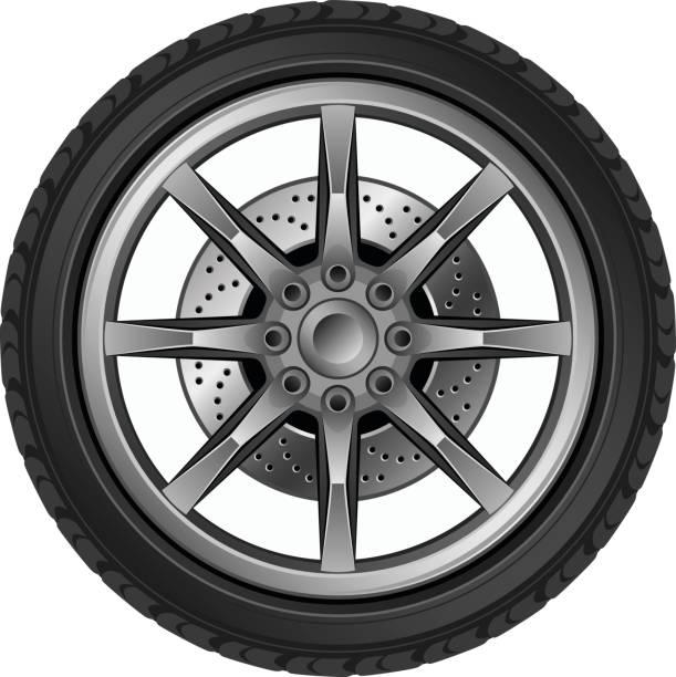 illustrations, cliparts, dessins animés et icônes de car wheel - alliage