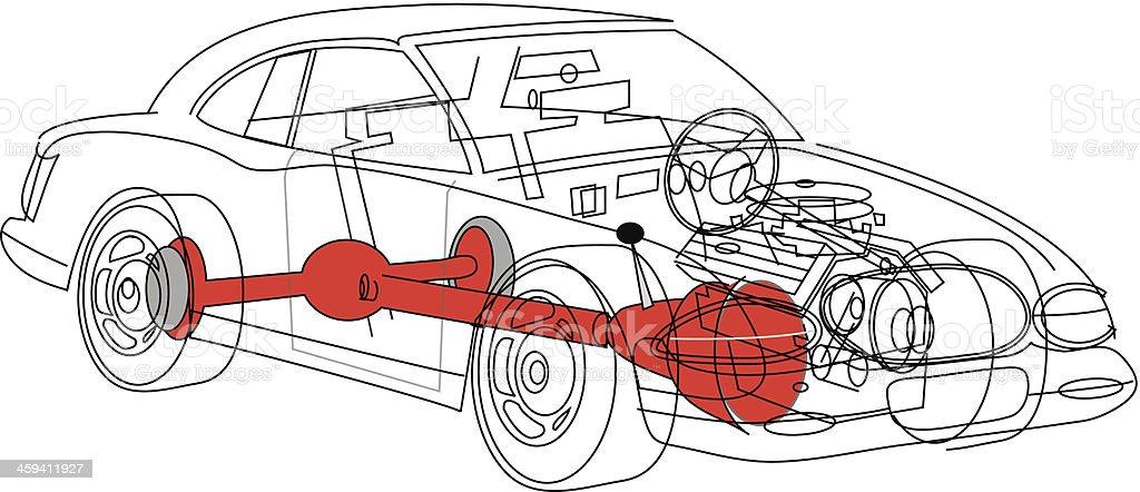 Auto Drahtmodell C Stock Vektor Art und mehr Bilder von Auto ...