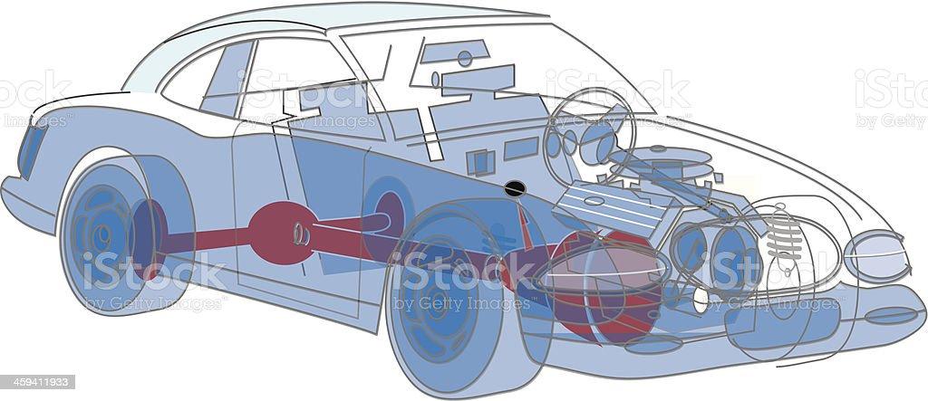 Auto Drahtmodell C2 Stock Vektor Art und mehr Bilder von Auto ...