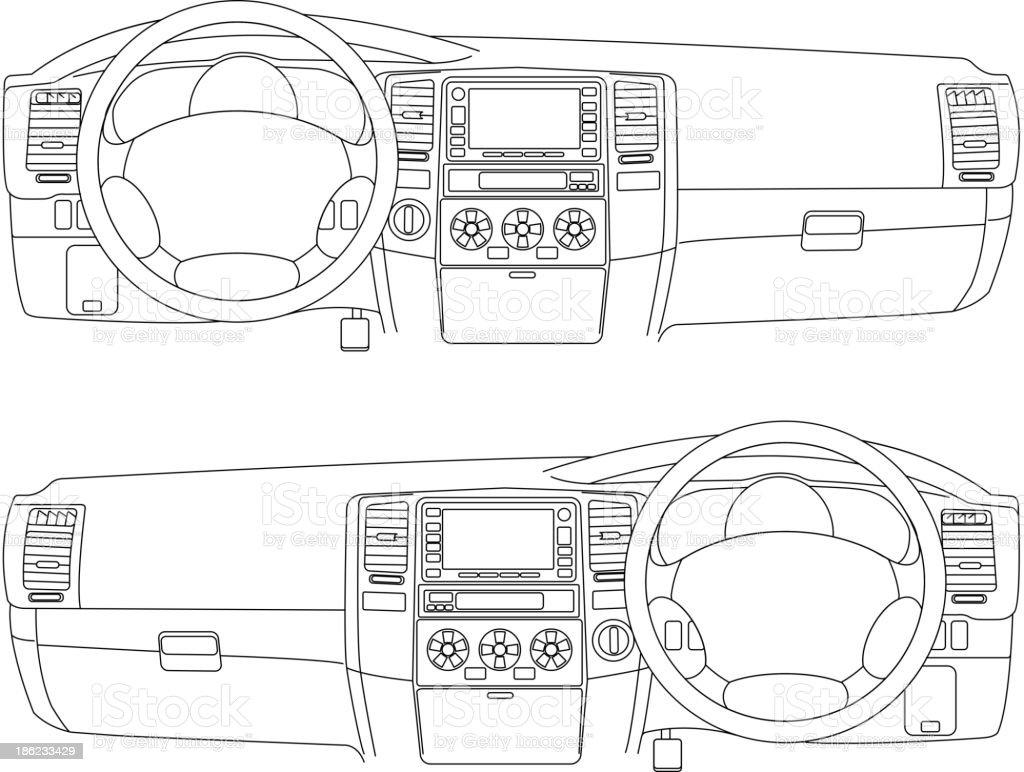 Auto ohne – Vektorgrafik