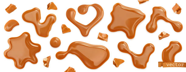 27 440 Caramel Sauce Illustrations Clip Art Istock