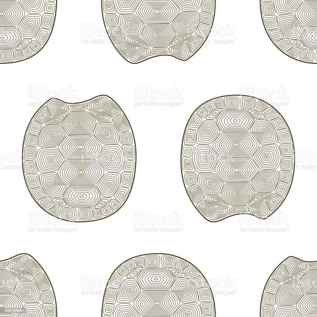 Kabuk Kaplumbağa Seamless Modeli Boyama Kitabı Yaban Hayatı Hayvan