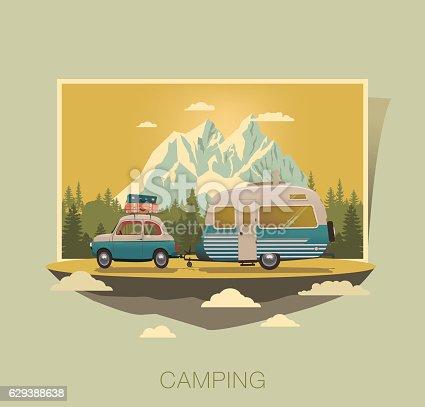 istock Caravan camping 629388638