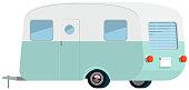Retro Style Caravan in Vector