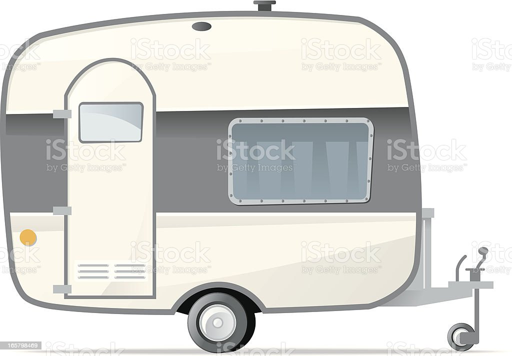 Caravan vector art illustration