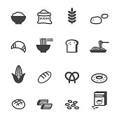 carbohydrate food icons