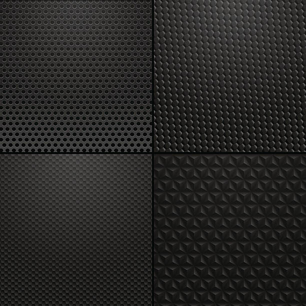 Carbon and Metallic texture - background illustration vector art illustration