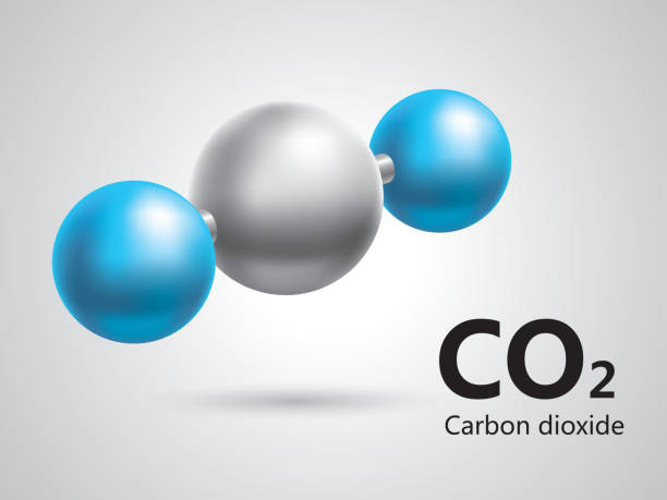 bildbanksillustrationer, clip art samt tecknat material och ikoner med carbon dioxide symbol - co2