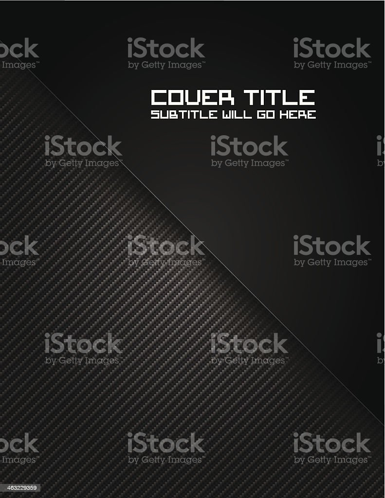 Carbon Fiber 4 Cover vector art illustration