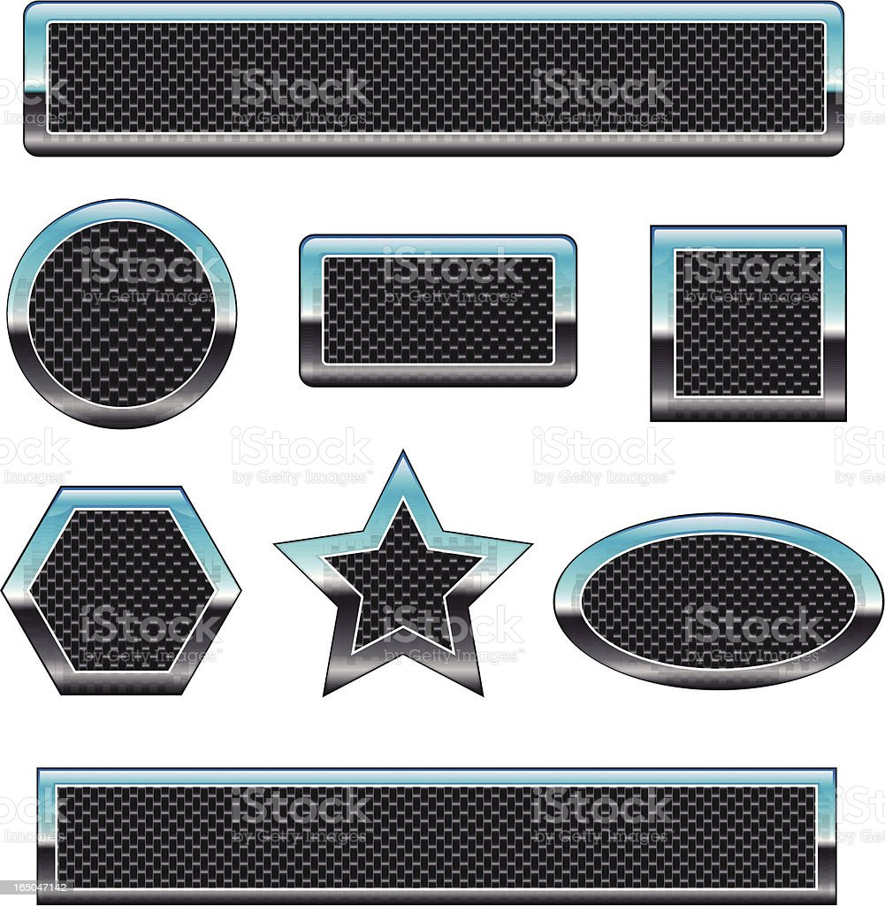 carbon fiber badges royalty-free stock vector art
