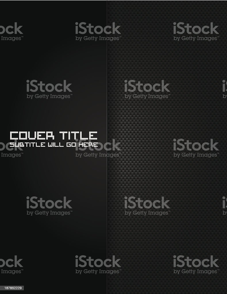 Carbon Fiber Cover vector art illustration