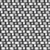 Carbon Fiber Seamless Vector Texture. Gray Background
