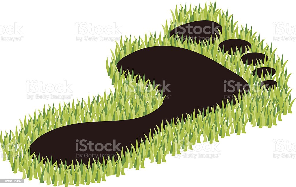 carbon footprint on grass royalty-free carbon footprint on grass stock vector art & more images of carbon footprint