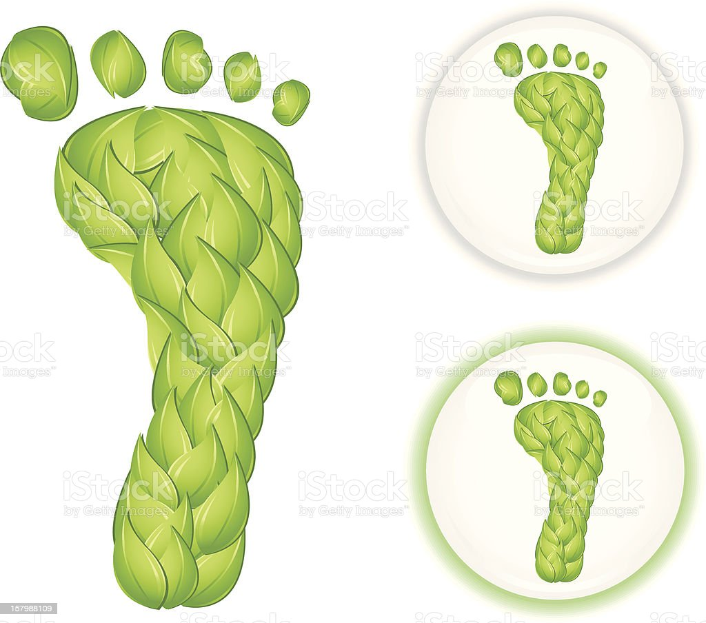 Carbon Footprint royalty-free stock vector art