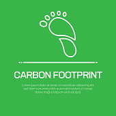 Carbon Footprint Vector Line Icon - Simple Thin Line Icon, Premium Quality Design Element