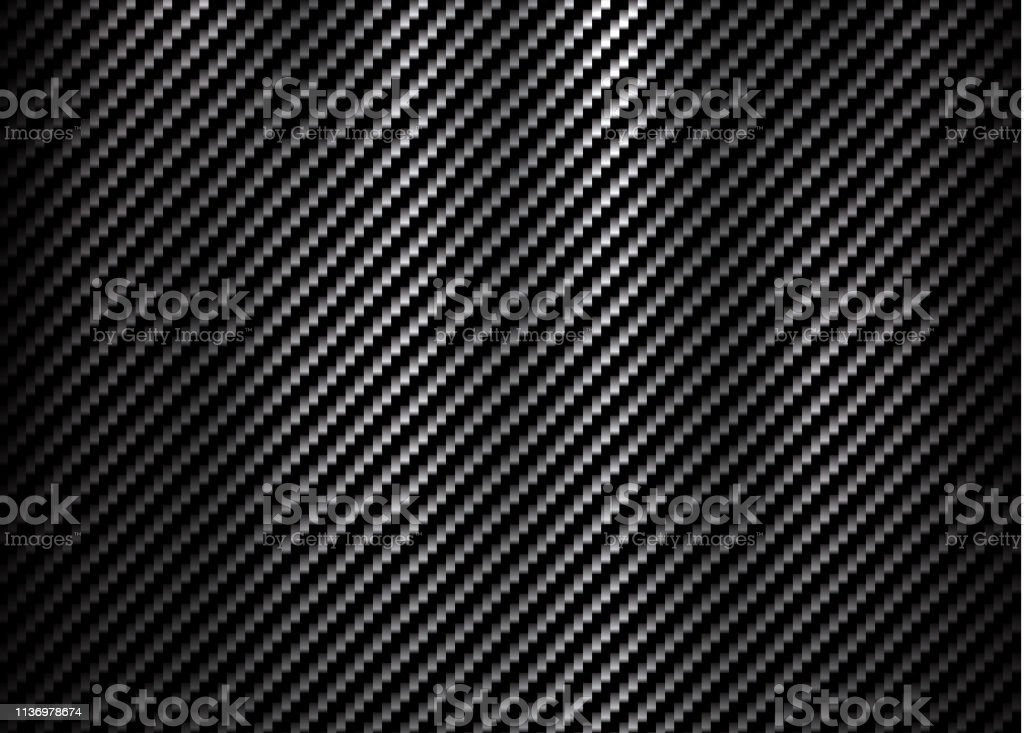 Carbon Kevlar Fiber Pattern Texture Background Stock
