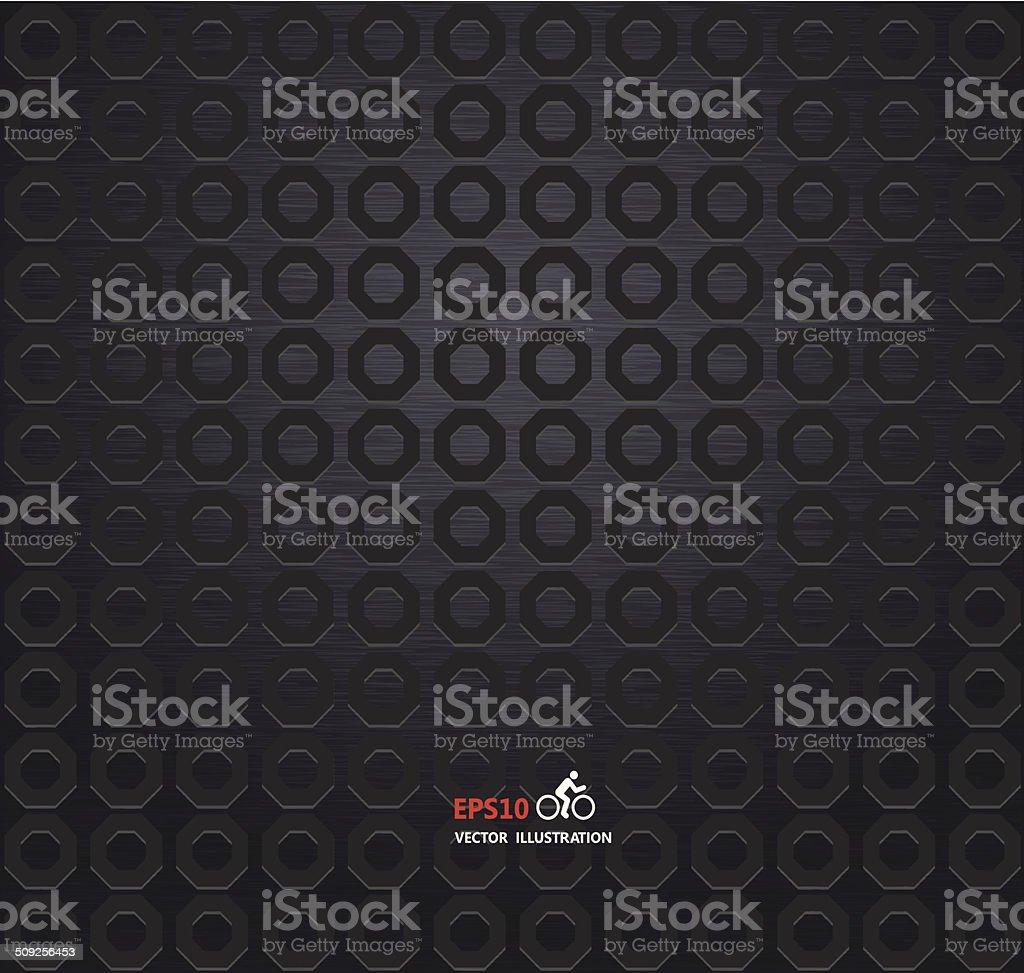 Carbon metallic texture background vector art illustration
