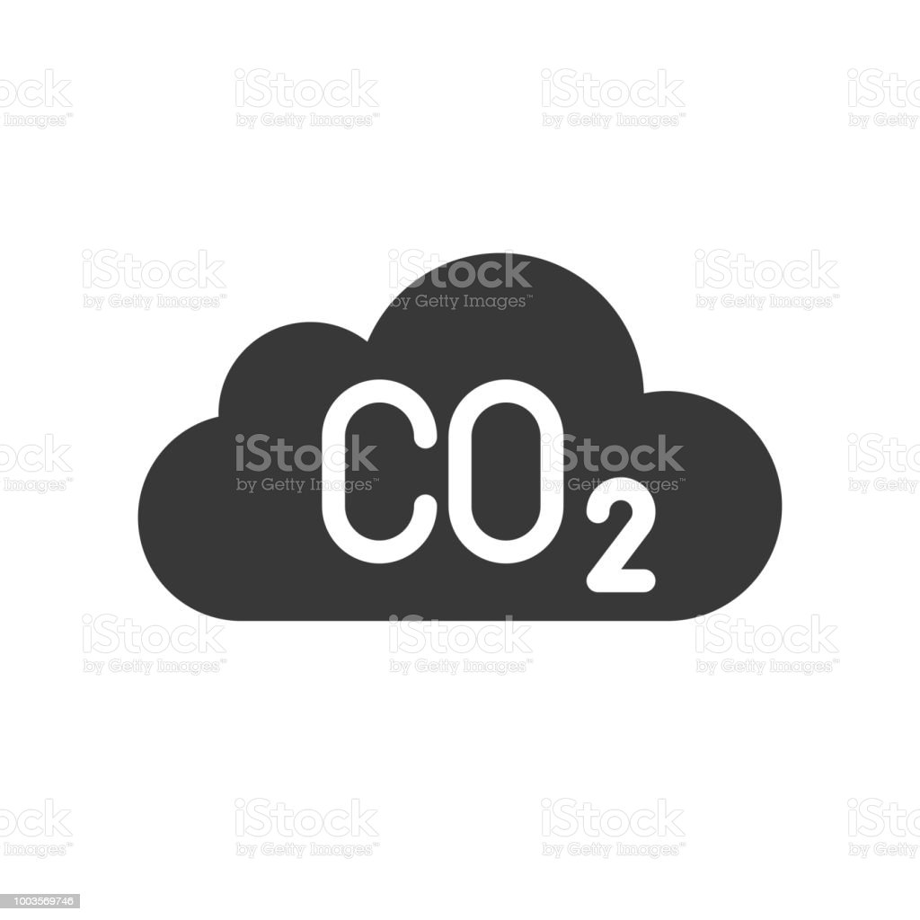 Carbon Monoxide On Cloud Pollution Icon Stock Vector Art More