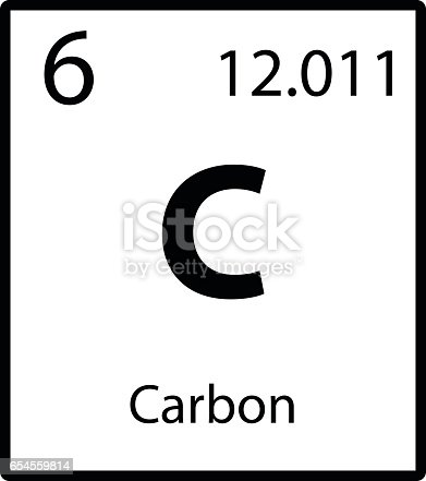 Carbon periodic table element icon on white background vector stock carbon periodic table element icon on white background vector stock vector art more images of air pollution 654559814 istock urtaz Gallery