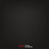 carbon polygon dark pattern vector background