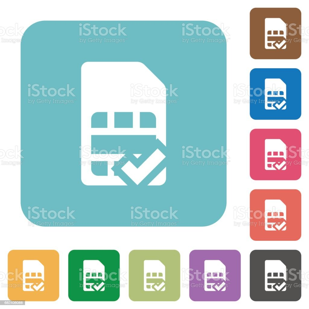 SIM card accepted flat icons royalty-free sim card accepted flat icons stock vector art & more images of applying