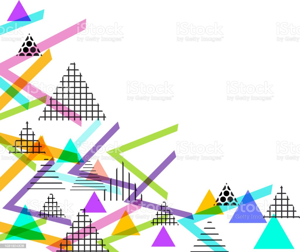 card banner template frame for your text geometric retro postmodern retro fashion style 80
