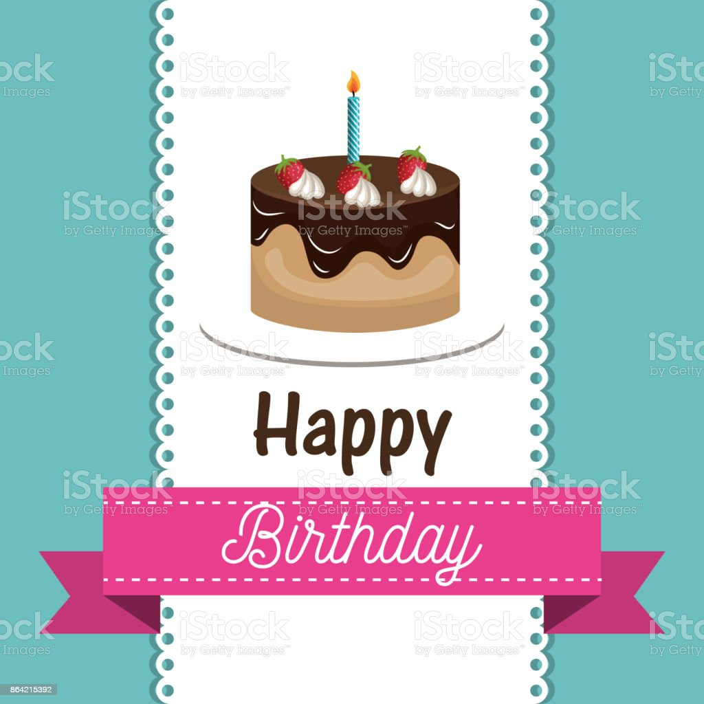 card birthday cake chocolate candle graphic royalty-free card birthday cake chocolate candle graphic stock vector art & more images of abstract