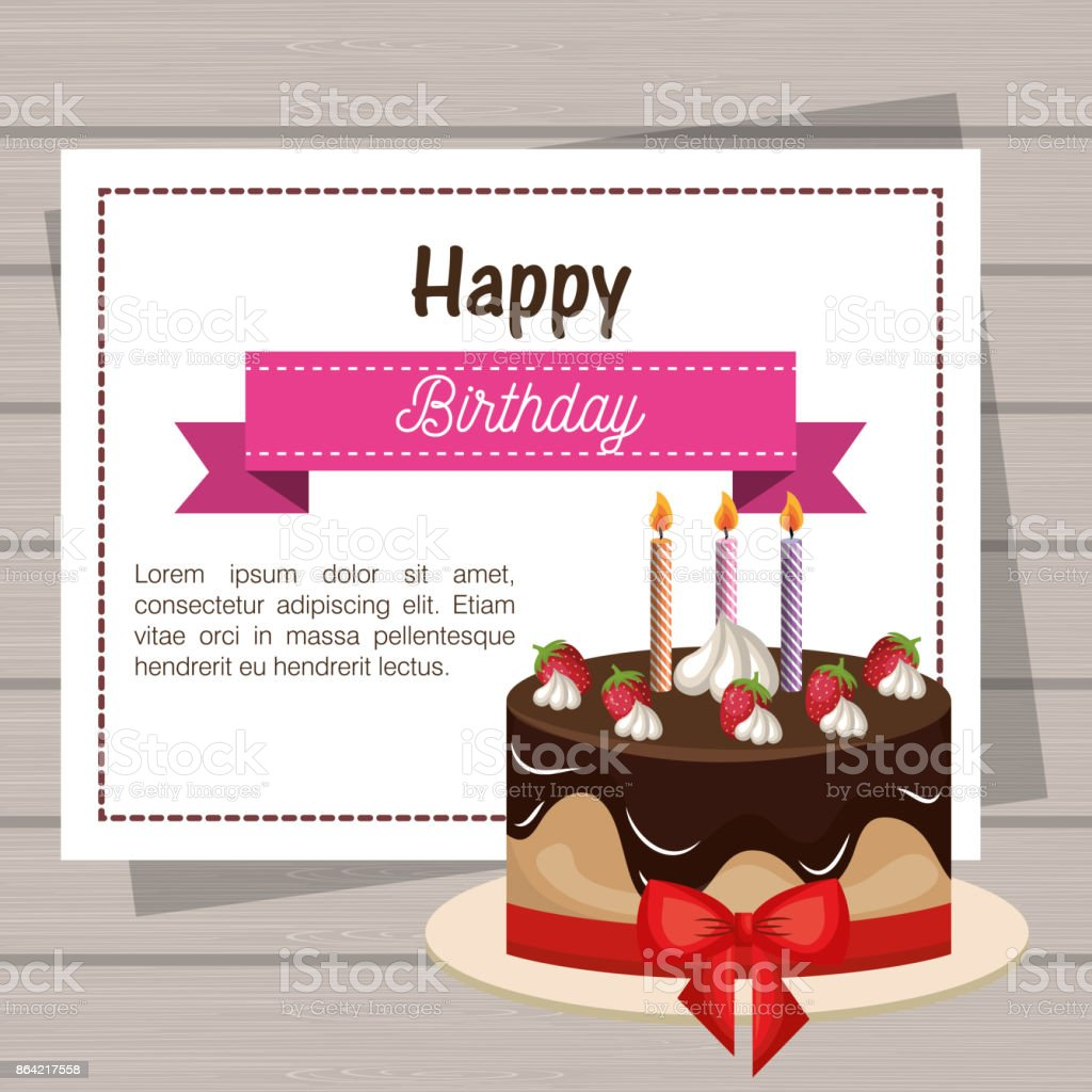 card birthday cake chocolate ribbon graphic royalty-free card birthday cake chocolate ribbon graphic stock vector art & more images of alphabet