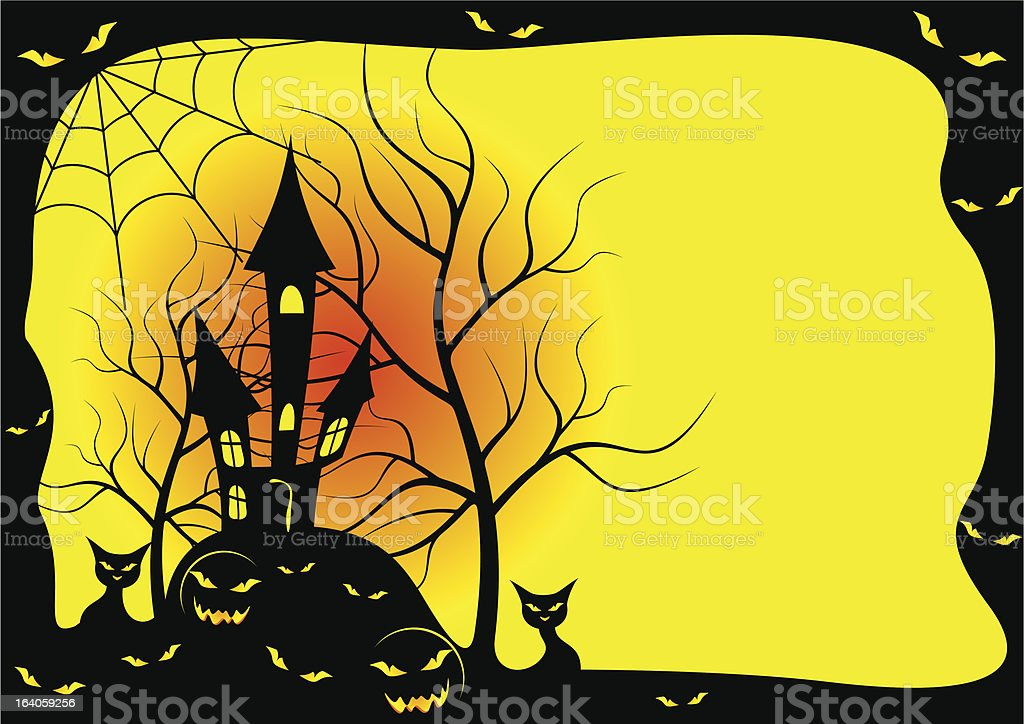 Card for Halloween . royalty-free stock vector art