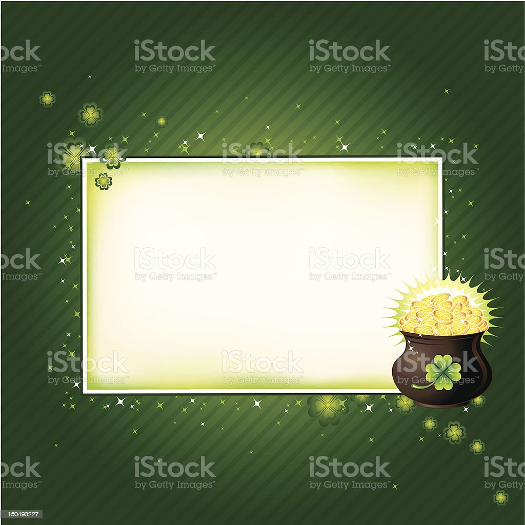 Card for St. Patrick's Day royalty-free card for st patricks day stock vector art & more images of 17th century