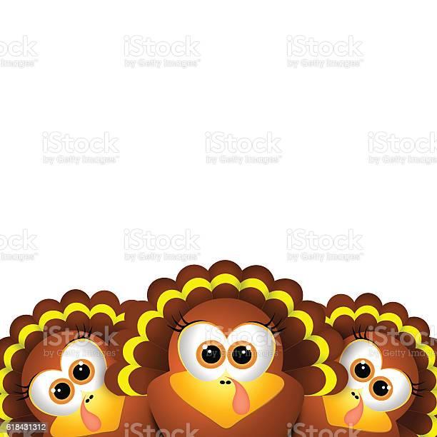 Card For Thanksgiving Day Funny Turkey On White Background Stock Vektor Art Und Mehr Bilder Von Agrarbetrieb Istock