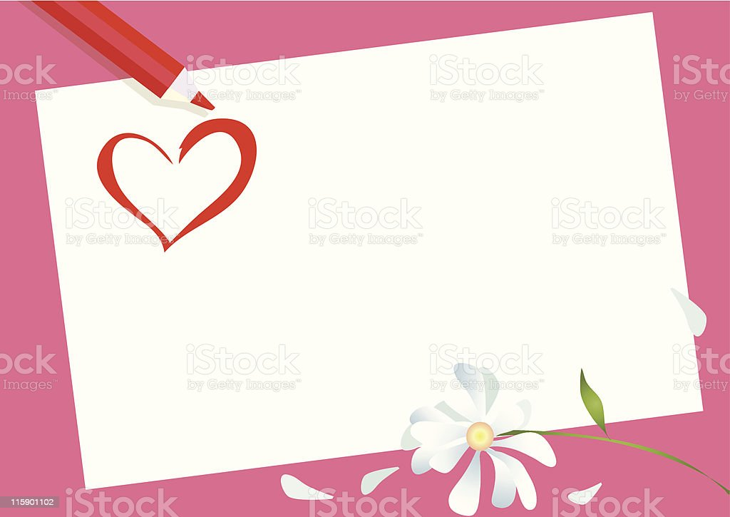 Card for Valentine Day royalty-free stock vector art