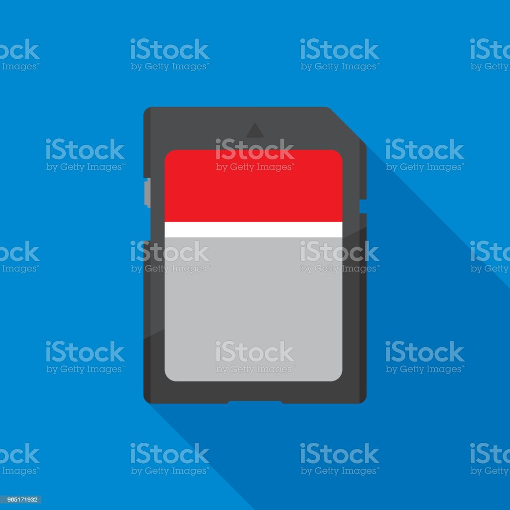 SD Card Front Icon Flat sd card front icon flat - stockowe grafiki wektorowe i więcej obrazów aparat fotograficzny royalty-free