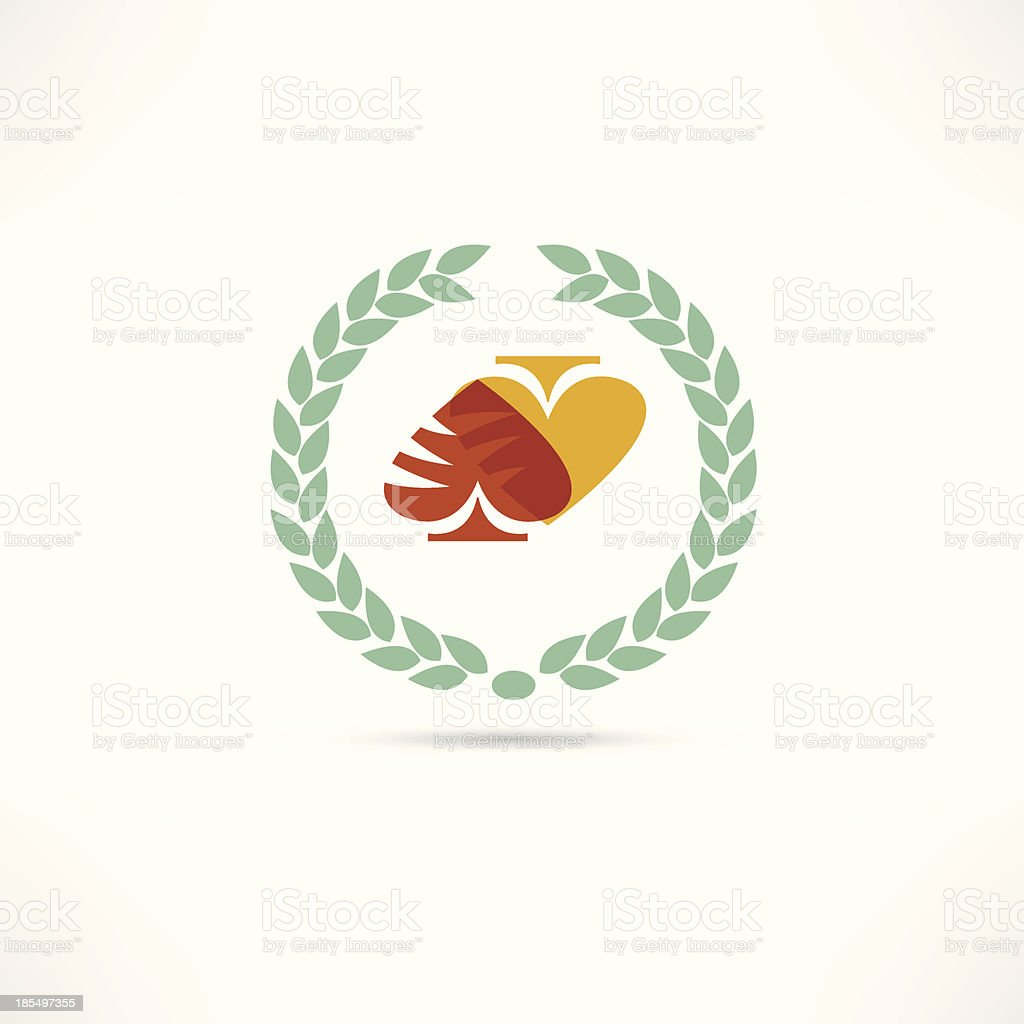 card game icon vector art illustration