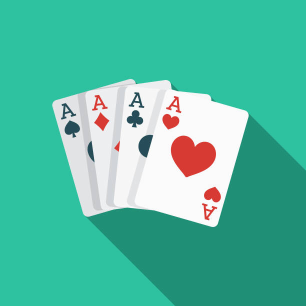 Card Games Flat Design Western Icon A flat design styled Wild West icon with a long side shadow. Color swatches are global so it's easy to edit and change the colors. poker stock illustrations