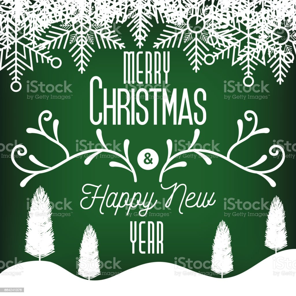 card greeting merry christmas and new year landscape graphic royalty-free card greeting merry christmas and new year landscape graphic stock vector art & more images of abstract