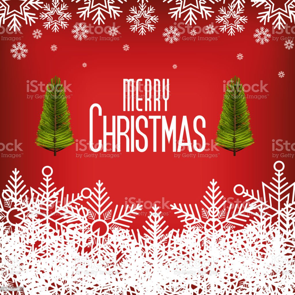 card greeting merry christmas with snowflake and tree graphic royalty-free card greeting merry christmas with snowflake and tree graphic stock vector art & more images of abstract