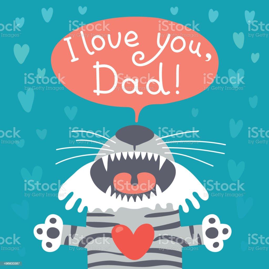 Ilustración De Tarjeta Del Día De Padre Feliz Con Divertidos