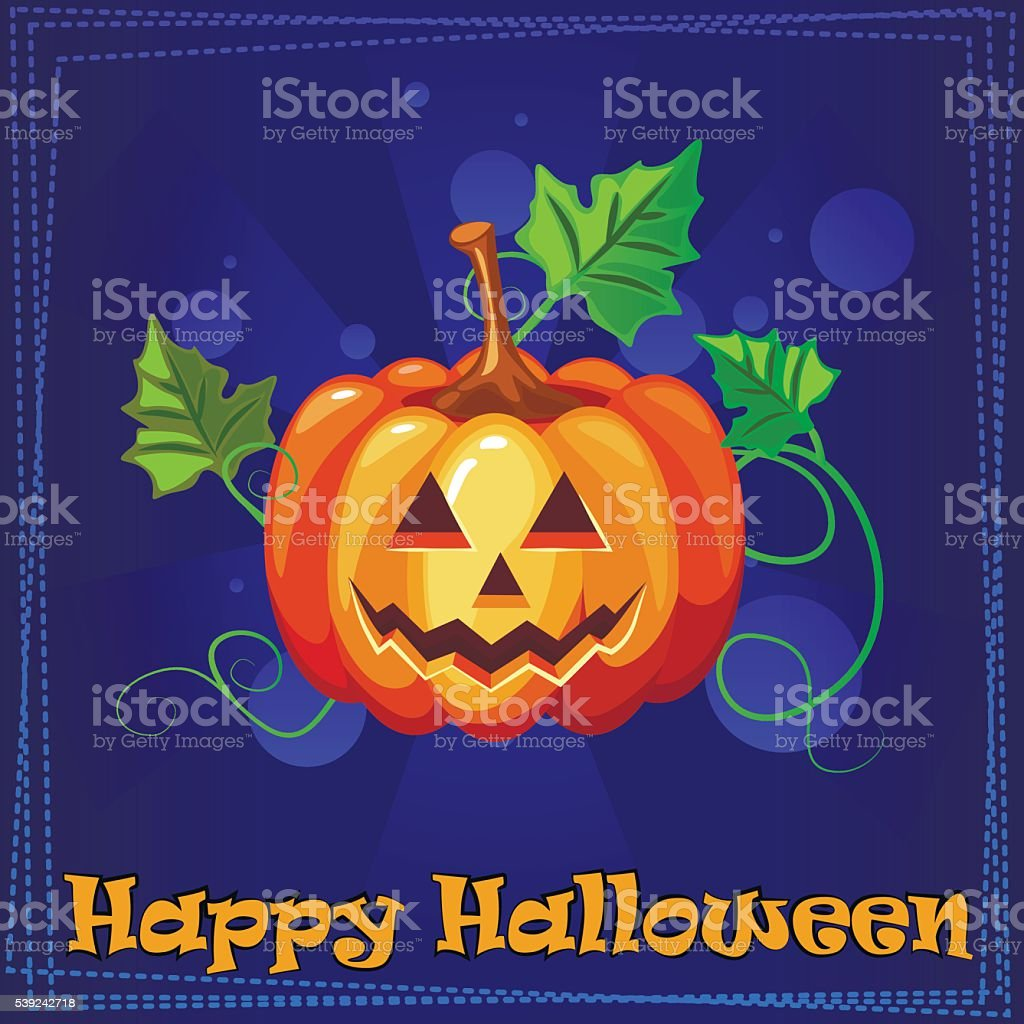Card Happy Halloween with pumpkin royalty-free card happy halloween with pumpkin stock vector art & more images of art and craft