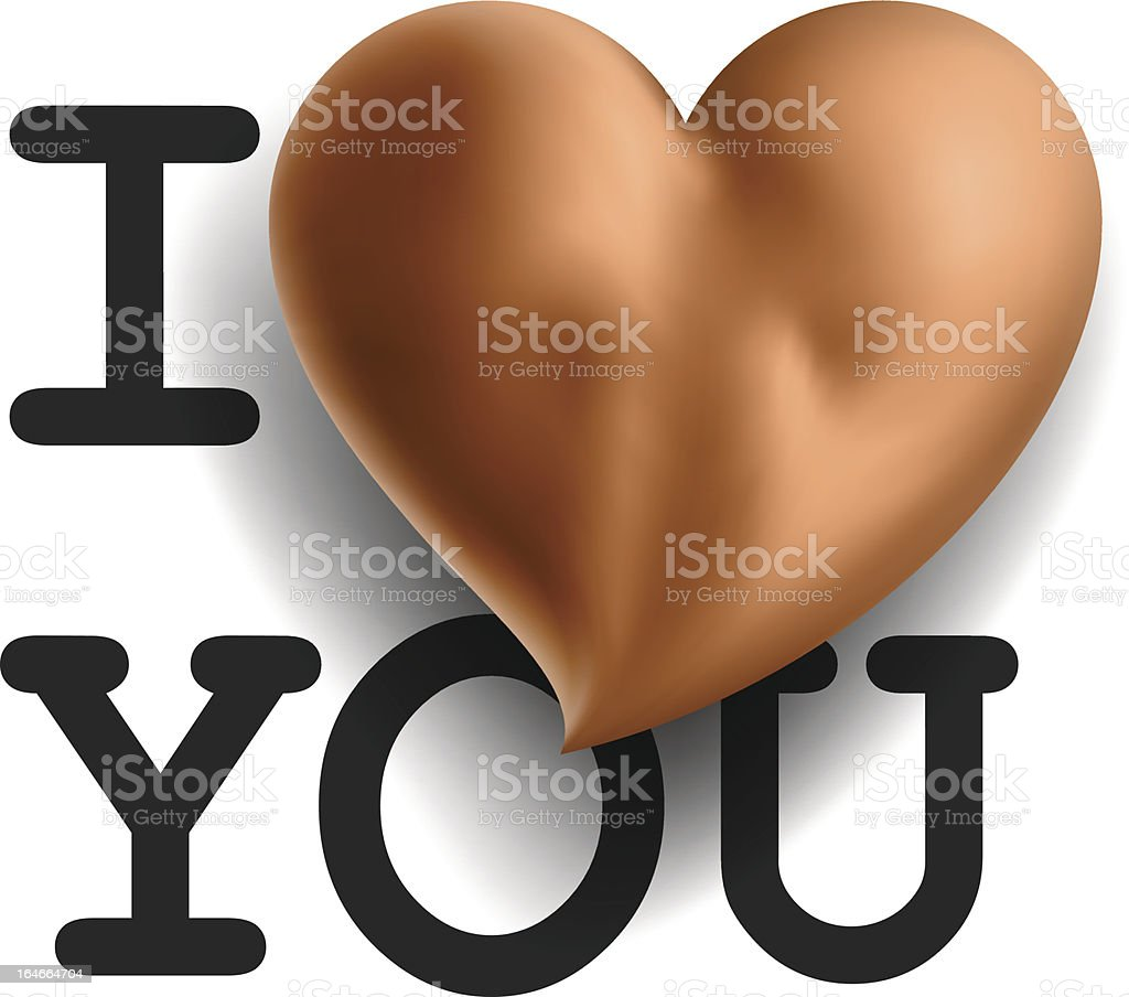 Card I love you, with sexy buttons in heart shape royalty-free stock vector art