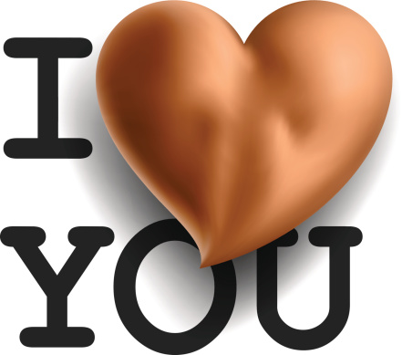 Card I Love You With Sexy Buttons In Heart Shape Stock Illustration - Download Image Now