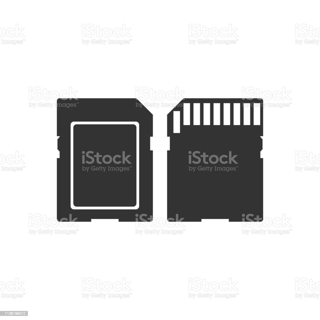 Sd Card Icon Isolated On Transparent Background Memory Card