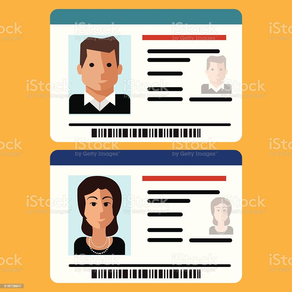 ID Card Icon vector art illustration