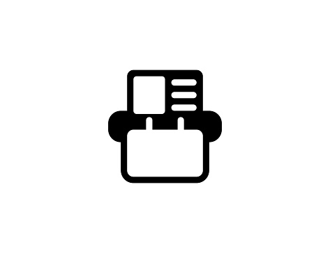 Card index icon. Isolated Address Book symbol - Vector