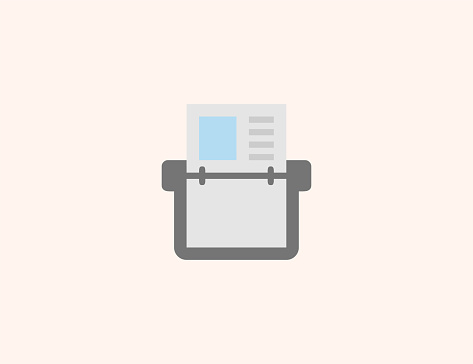 Card index vector icon. Isolated Address Book flat, colored illustration symbol - Vector