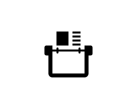 Card index vector icon. Isolated Address Book flat illustration symbol - Vector