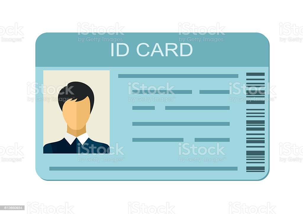 id card isolated on white background business identification icon