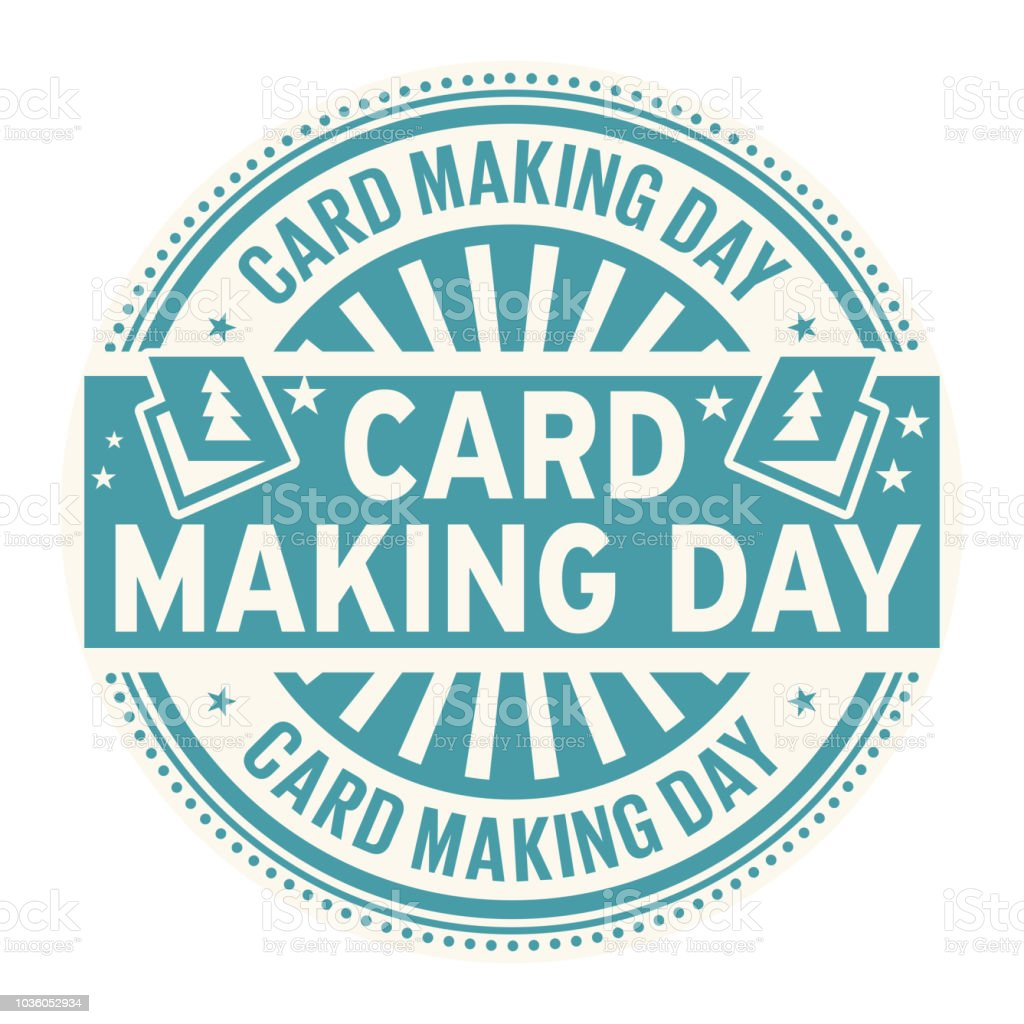 Card Making Day Rubber Stamp Stock Vector Art & More Images of ...